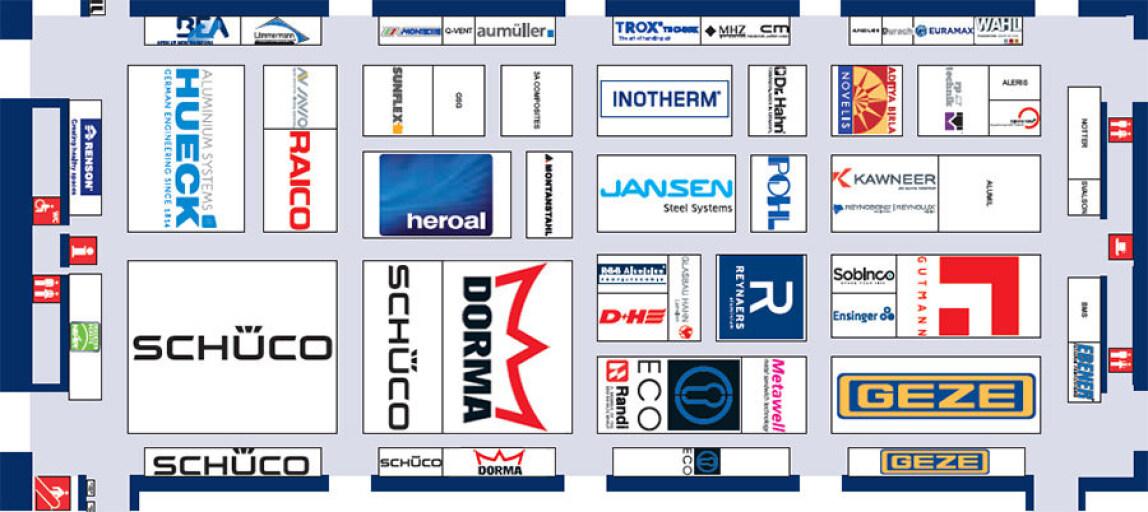 Belegungsplan der Halle B1