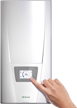 Clage Durchlauferhitzer mit KNX-Zugang und Touch-Display