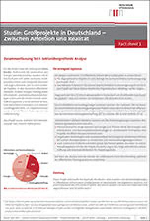 Studie: Großprojekte in Deutschland – Zwischen Ambition und Realität