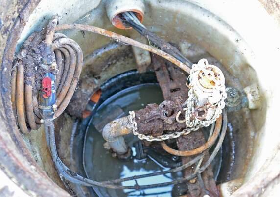 alter Druckentwässerungsschacht