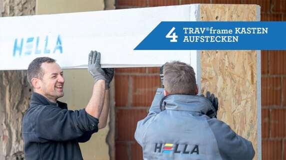 4/18 - Einbau eines Fensters mit TRAV®frame in 18 Schritten