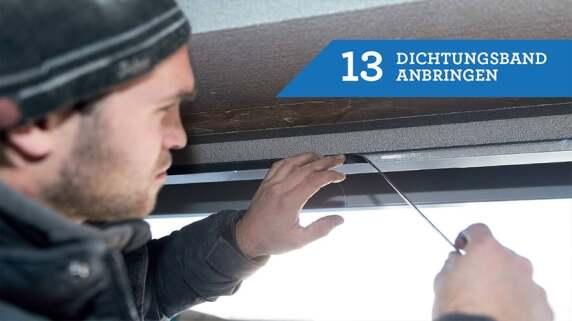 13/18 - Einbau eines Fensters mit TRAV®frame in 18 Schritten