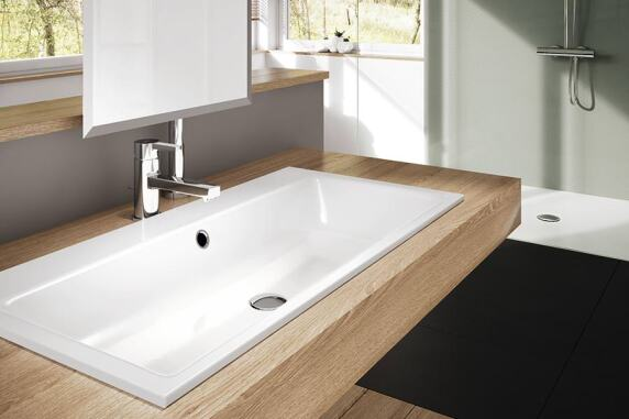 waschtische aus stahl email kaldeweis neues produktsegment. Black Bedroom Furniture Sets. Home Design Ideas