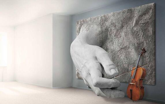 Mit Lavanior Art können Wände zur Skulptur werden.