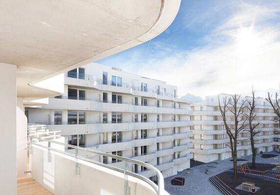 Wohnbebauung Sillblock Innsbruck von Schenker Salvi Weber Architekten ZT GmbH <br/> Foto: Bengt Stiller | Christoph Panzer