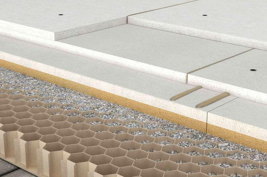 sicherer bodenaufbau f r xxl fliesen per trockenestrich. Black Bedroom Furniture Sets. Home Design Ideas