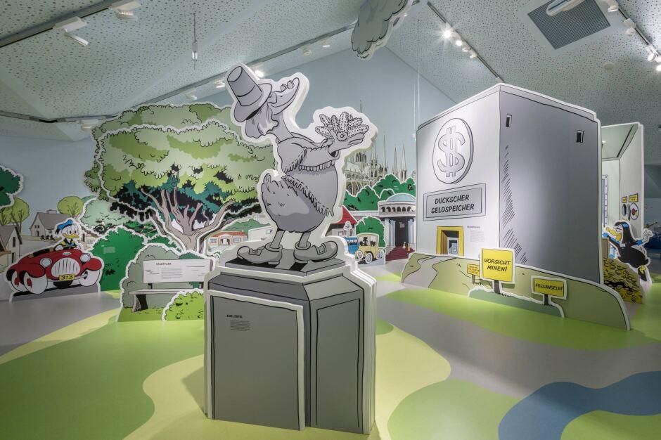 Im ersten deutschen comic museum ist der belag teil des ...