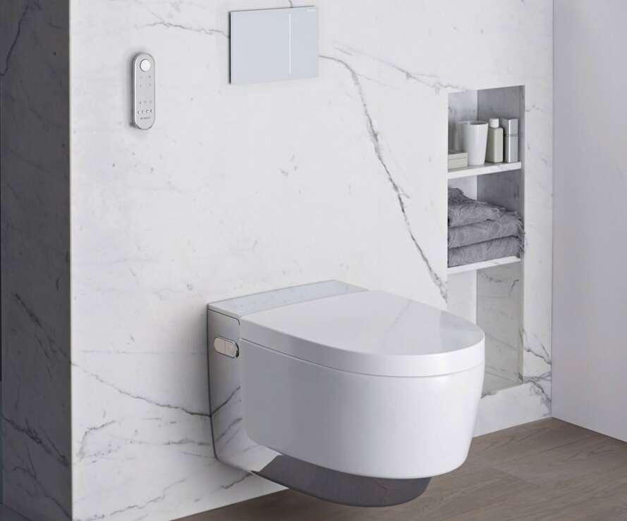 Dusch Wc Erfahrungen geberit aquaclean mera neue spülrandlose dusch wc generation mit
