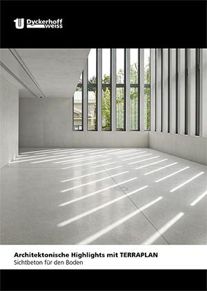 """Dyckerhoff Broschüre """" Architektonische Highlights mit Terraplan"""""""