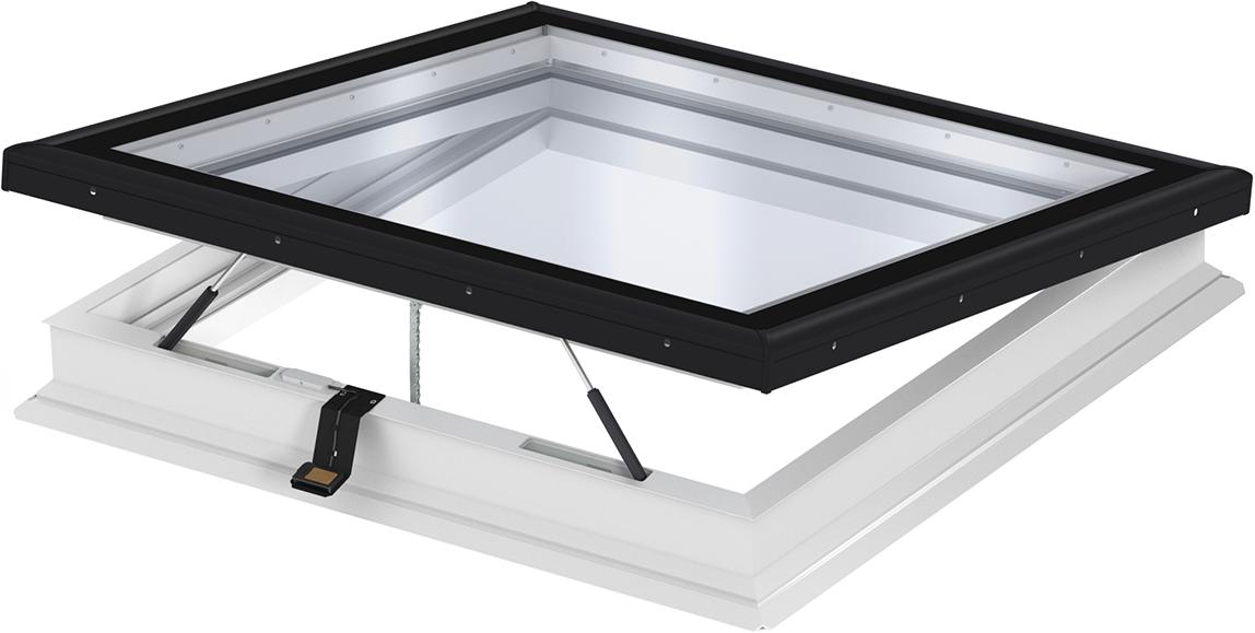 velux flachdach fenster jetzt auch mit flachglas abschluss. Black Bedroom Furniture Sets. Home Design Ideas
