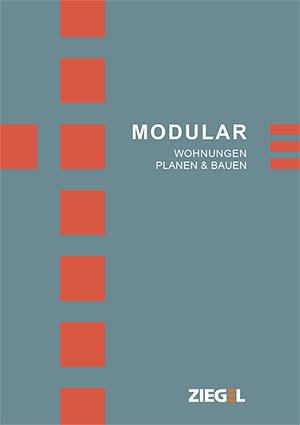 """Broschüre """"Modular- Wohnungen planen & bauen"""""""