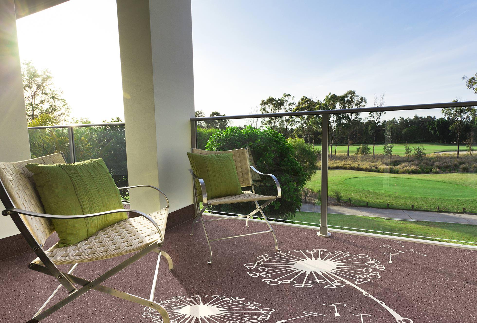 wetterfeste tattoos f r balkone terrassen und fluchtwege bodentattoo. Black Bedroom Furniture Sets. Home Design Ideas