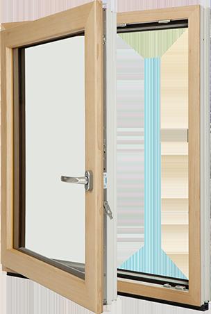 Inoutic fusioniert kunststoff echtholz und aluminium f r for Fenster frontale
