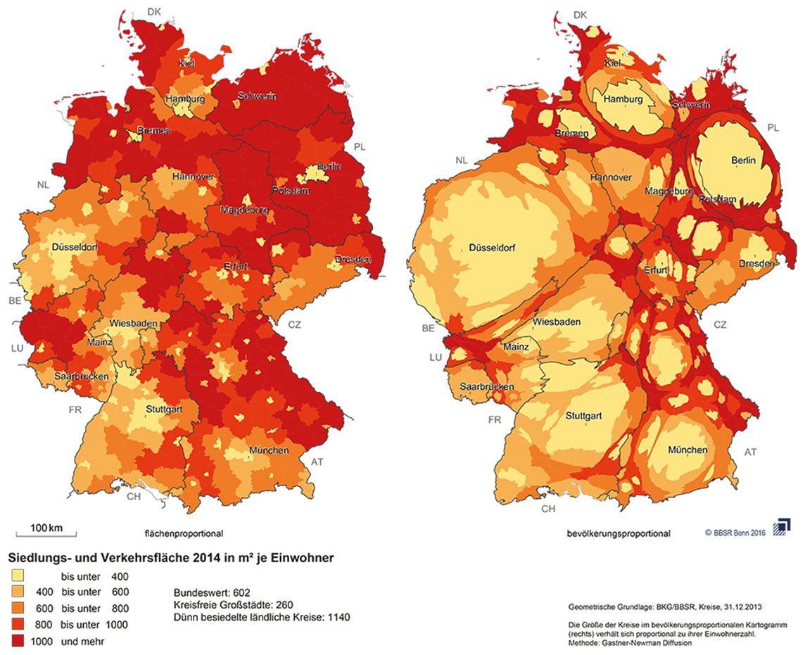 flächenverbrauch in deutschland immer noch zu hoch