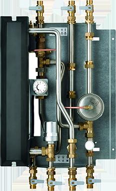 AEG Wohnungsstation WS bereitet Trinkwasser hygienisch im Durchfluss und kann Wärme über Radiatoren verteilen