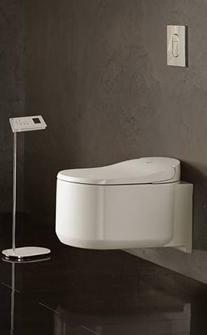 sensia arena neues dusch wc von grohe mit lady dusche und geruchsabsaugung. Black Bedroom Furniture Sets. Home Design Ideas