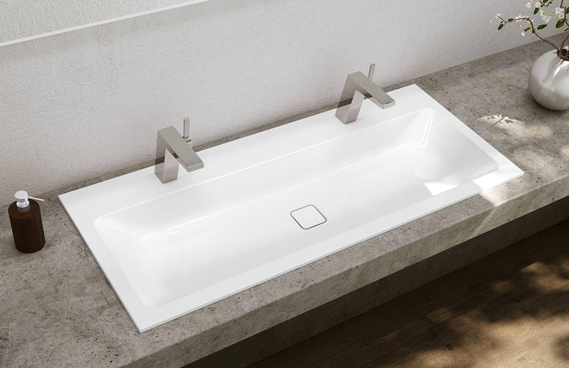 neue stahl email waschtisch varianten bei kaldewei. Black Bedroom Furniture Sets. Home Design Ideas