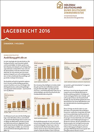 Lagebericht 2016 Zimmerer / Holzbau