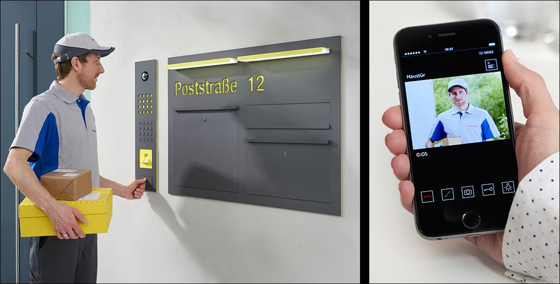 siedle lieferbox mit app f r paketempfang trotz abwesenheit. Black Bedroom Furniture Sets. Home Design Ideas