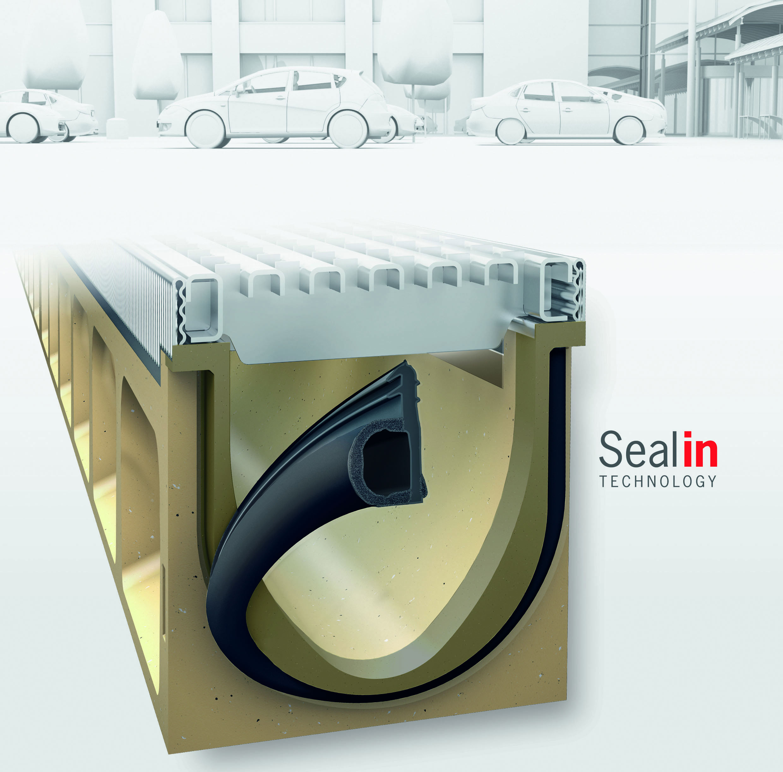 seal in technologie von aco verspricht dichte entw sserungsrinnen nach din en 1433. Black Bedroom Furniture Sets. Home Design Ideas
