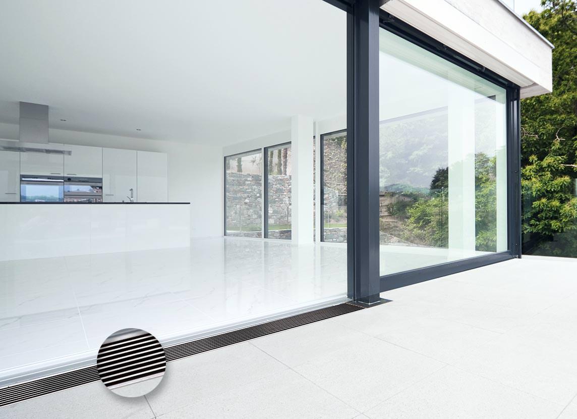 aquadrain shadowline designorientierte drainrostauflage f r balkone und terrassen. Black Bedroom Furniture Sets. Home Design Ideas