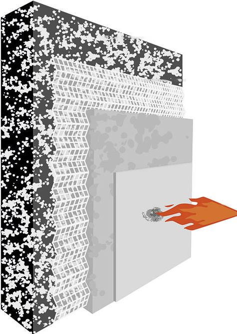 Brandgef�hrlich? Fraunhofer UMSICHT hat WDV-System mit Brandschutzputz getestet