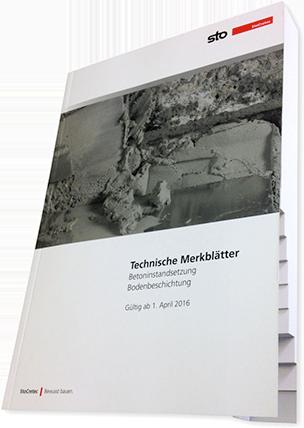 """""""Technische Merkblätter"""" zu Betoninstandsetzung und Bodenbeschichtung"""