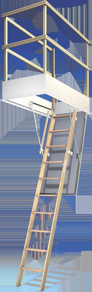 Bodentreppe mit Schutzgeländer