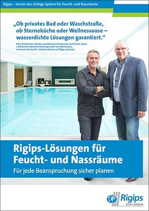"""Kompetenzbroschüre """"Rigips-Lösungen für Feucht- und Nassräume"""""""