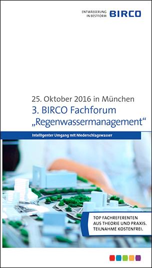 "Birco Fachforum ""Regenwassermanagement"""