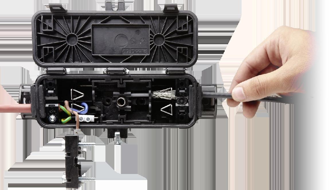 Anschluss des AEG Multi Connectors für Heizbänder im Außenbereich