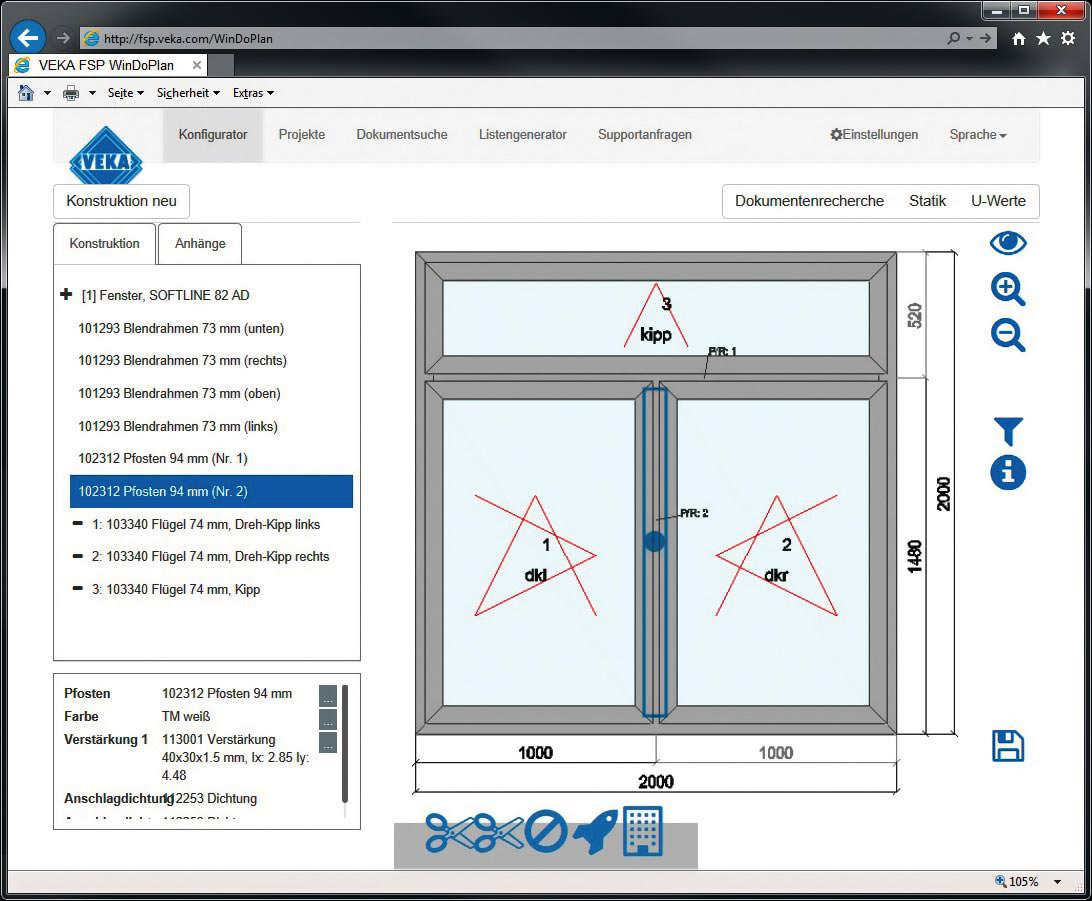 Fensterplanungssoftware FSP WinDoPlan