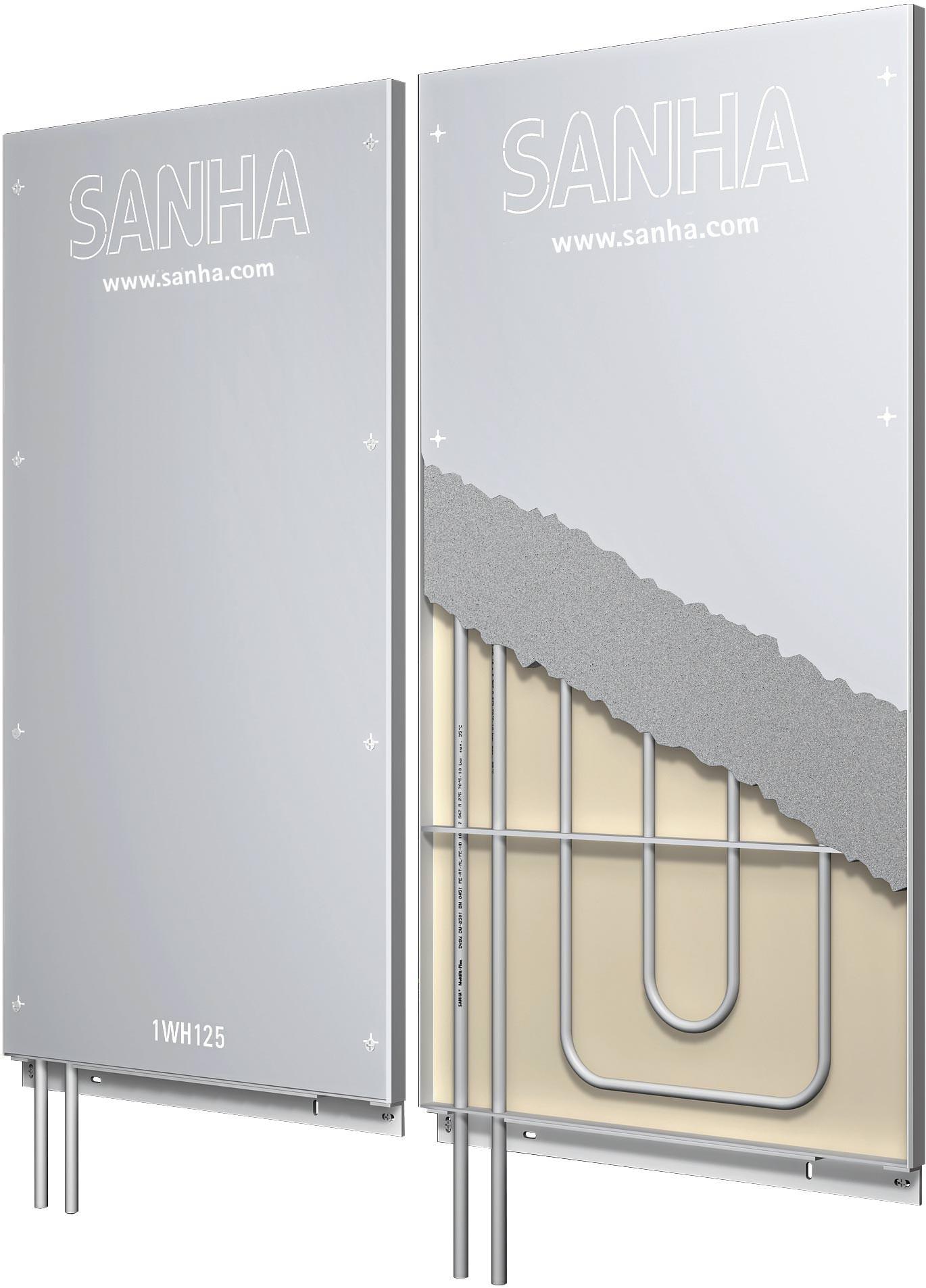 installationsfertige wandheizungsmodule f r vorlauftemperaturen bis 60 c. Black Bedroom Furniture Sets. Home Design Ideas