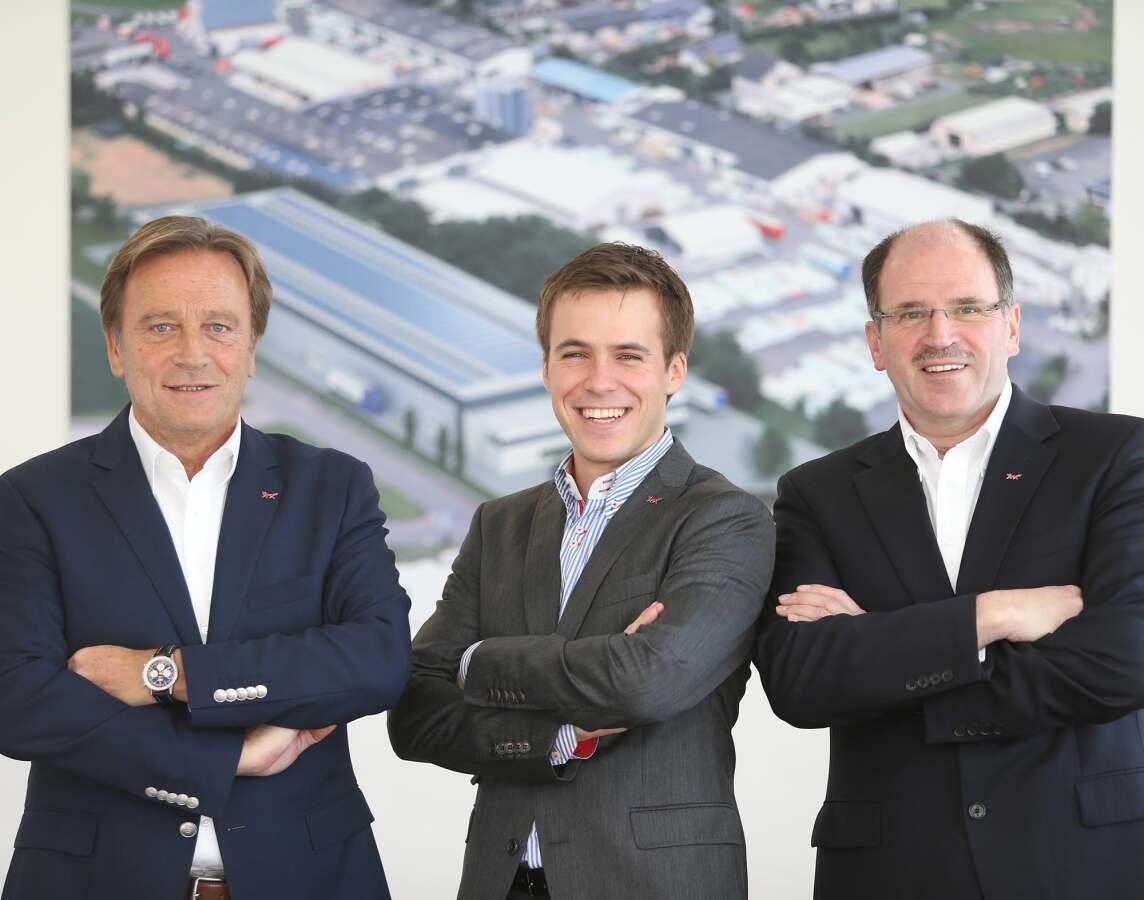 Geschäftsführender Gesellschafter Bernd Beck, Geschäftsführer Vertrieb Philipp Beck und Geschäftsführer Stefan Orth