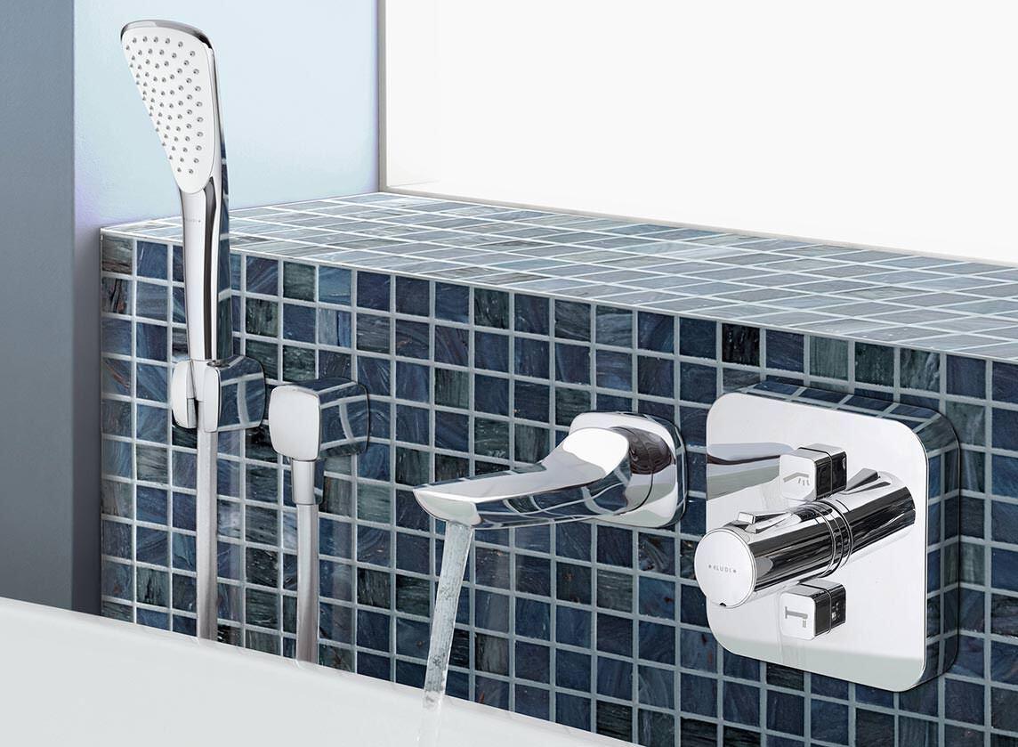 Kludi Pusht Dusch Und Badewasser Ein Aus Badarmatur