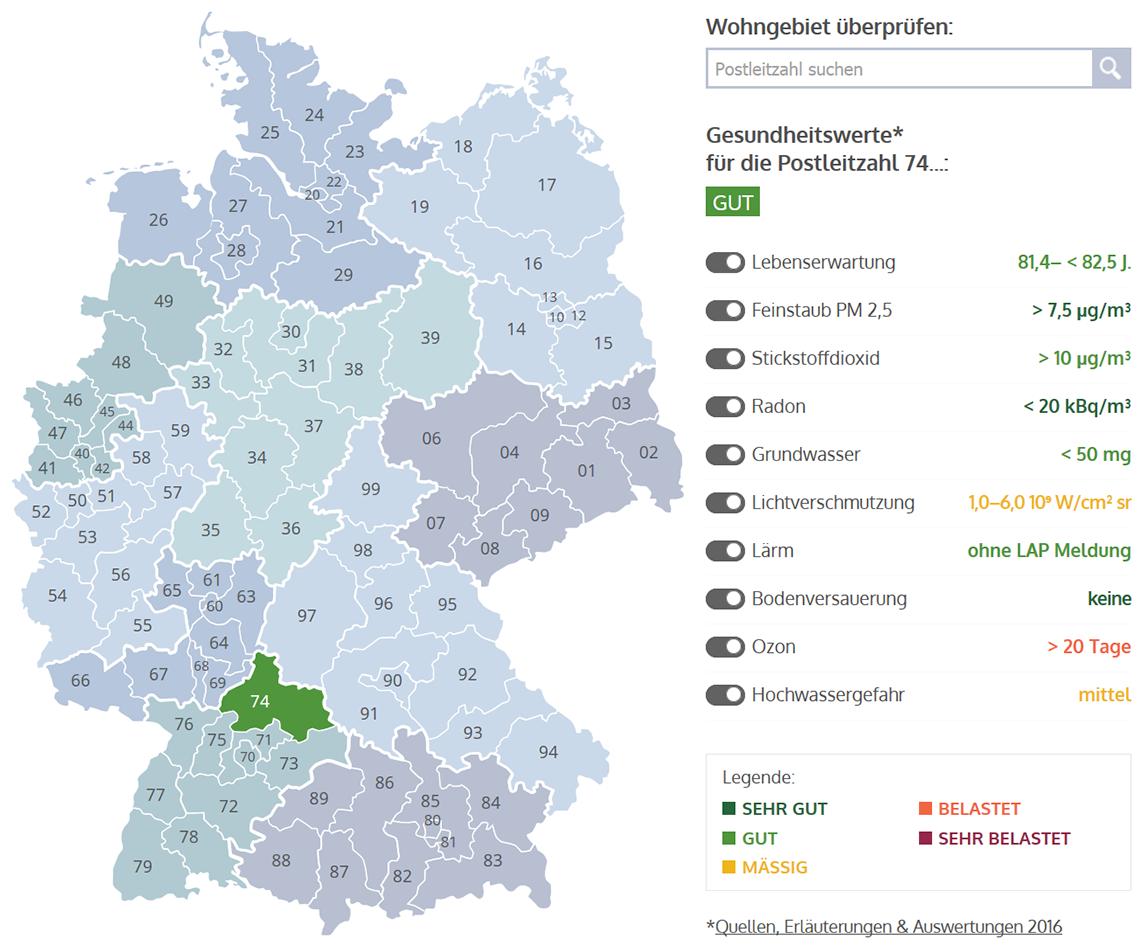 Radon Karte Deutschland.Bausparkasse Mainz Veröffentlicht Interaktive Karte Zu Gesunden