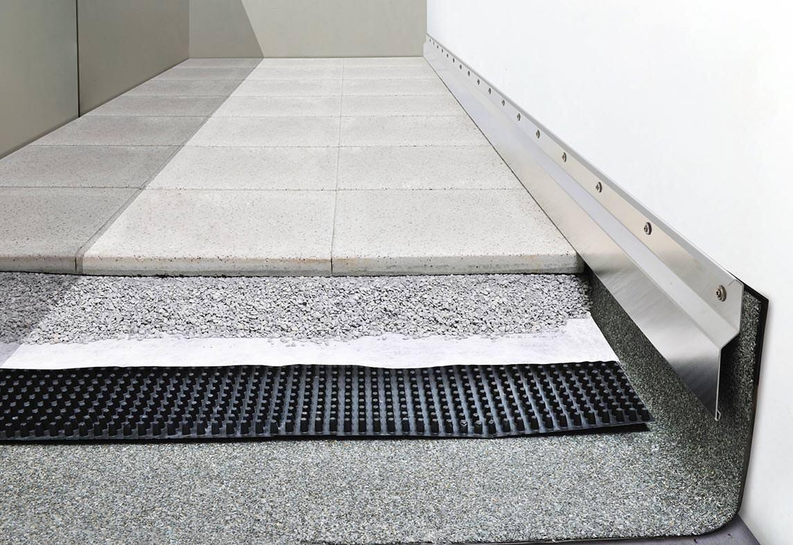 fachregelkonforme wandanschlussprofile von richard brink f r dachterrassen und balkone. Black Bedroom Furniture Sets. Home Design Ideas