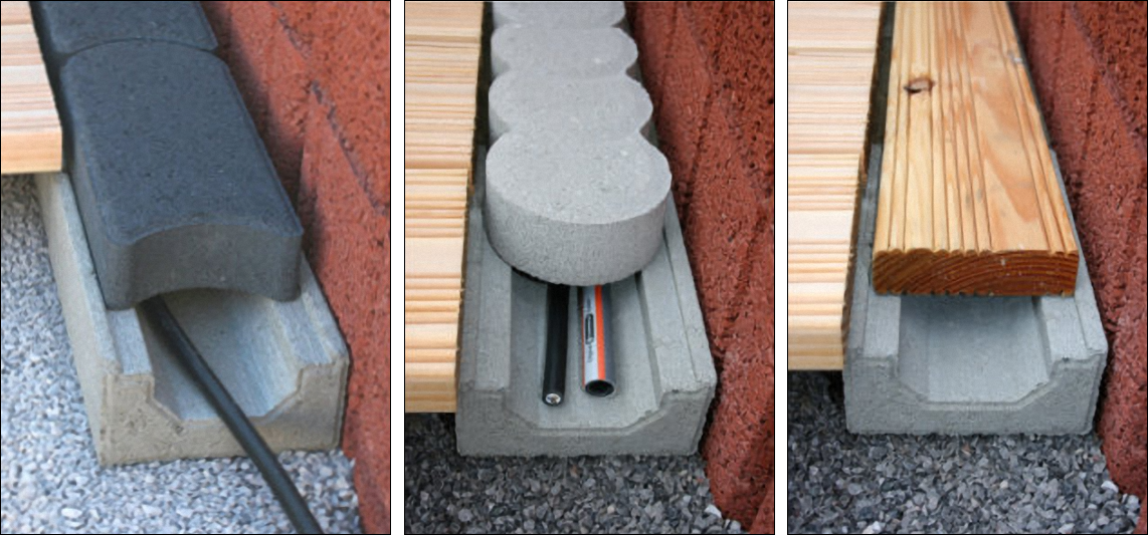 kabel schlauch kanal aus beton f r mehr sicherheit und ordnung im garten. Black Bedroom Furniture Sets. Home Design Ideas