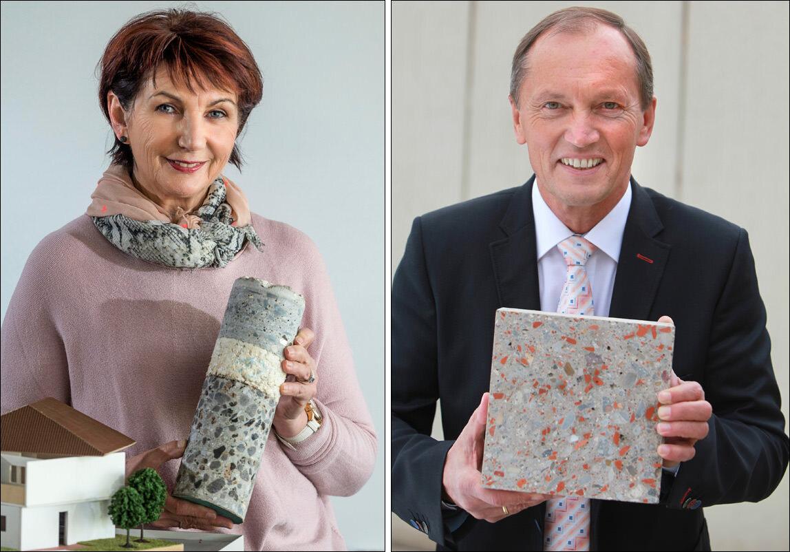 Die Träger des Deutschen Umweltpreises 2016: Prof. Dr.-Ing. Angelika Mettke und Walter Feeß.