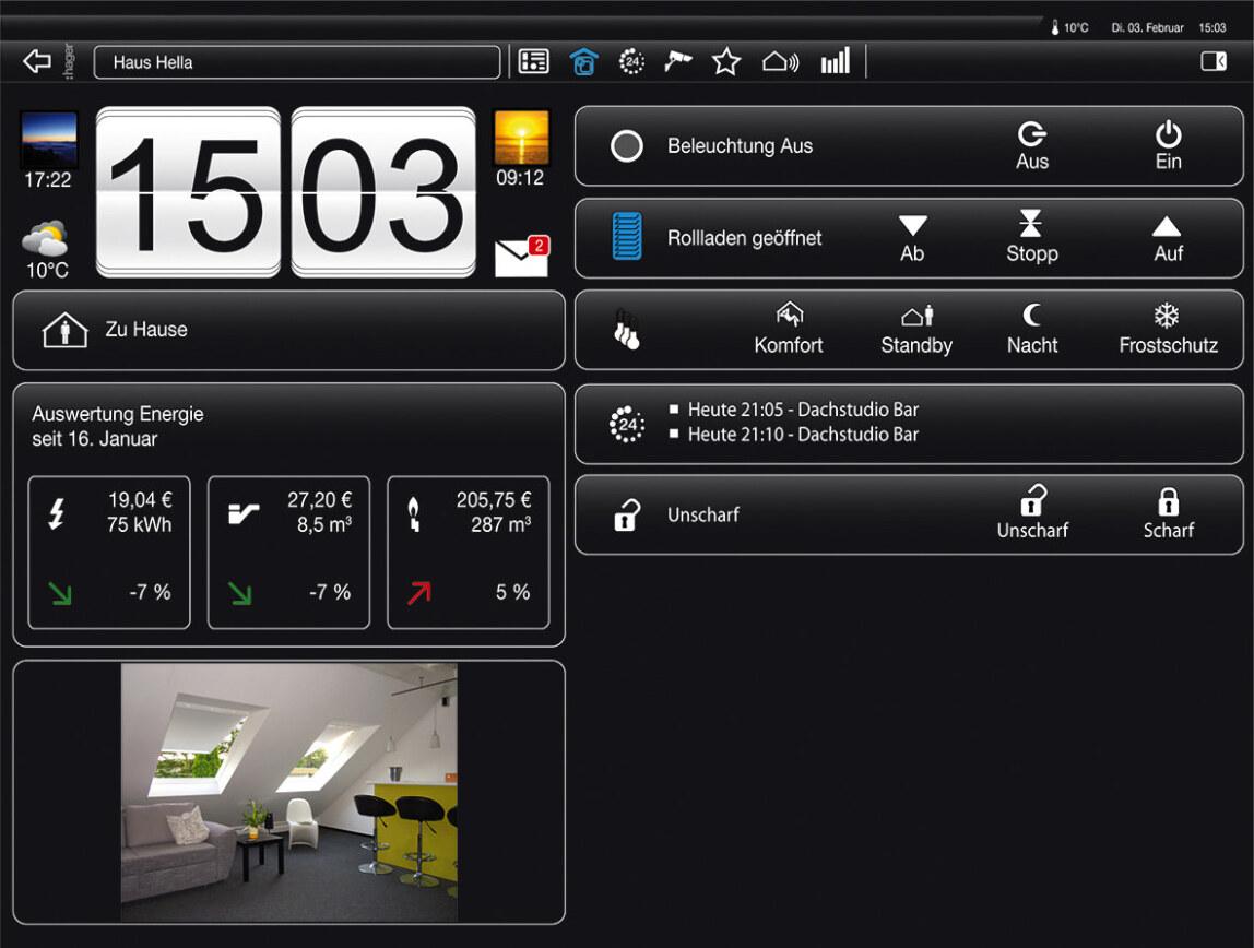 domovea zusammenfassende visualisierung und zugriff auf. Black Bedroom Furniture Sets. Home Design Ideas