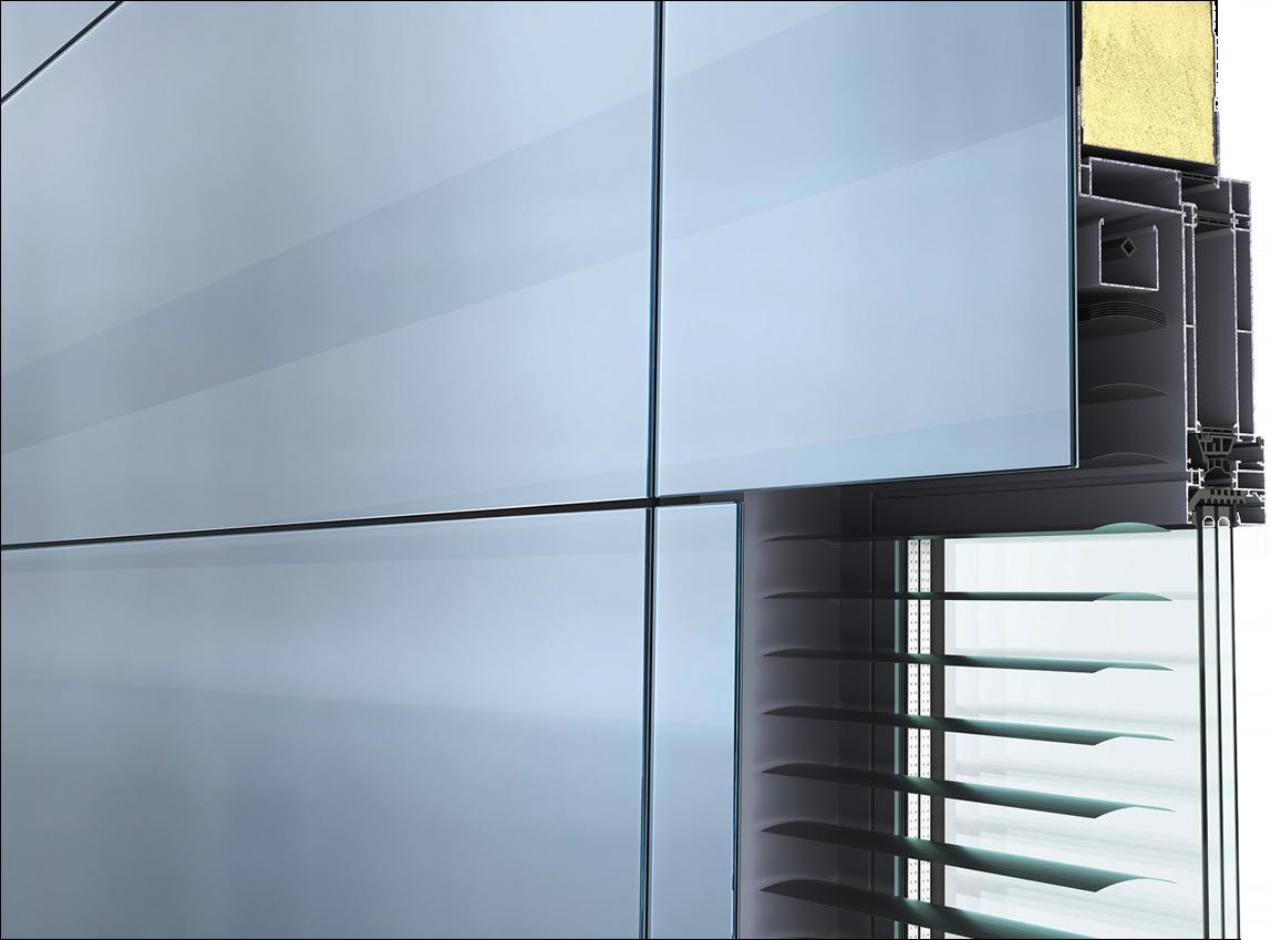 Glass Sandwich Panel GSP  für Fassaden in flächenbündiger Ganzglasoptik
