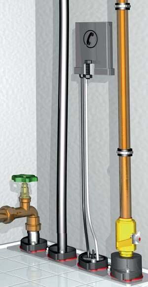 Hauseinführung von Wasser, Strom, Telefon, Abwasser