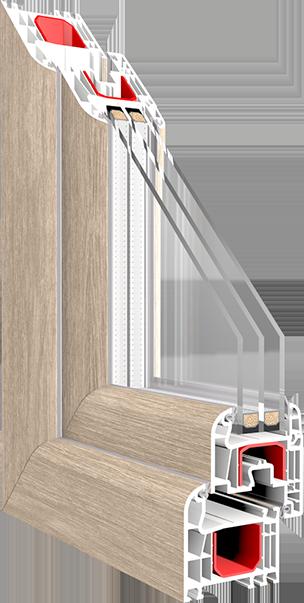 Iglo light schlankes 5 kammer kunststofffenstersystem neu von drutex - Schallschutzfenster klasse 6 ...