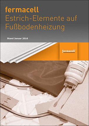 Fermacell Estrich-Elemente auf Fußbodenheizung