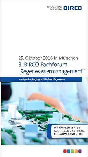 "Birco Fachforum ""Regenwassermanagement"""