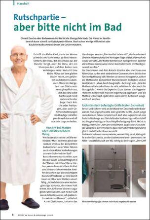 Rutschpartie –  aber bitte nicht im Bad