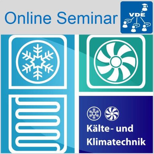 """Logo zum Online-Fortbildung """"Kälte- und Raumklimatechnik für Elektrotechniker"""""""