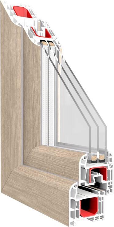 Iglo light schlankes 5 kammer kunststofffenstersystem neu - Schallschutzfenster klasse 6 ...