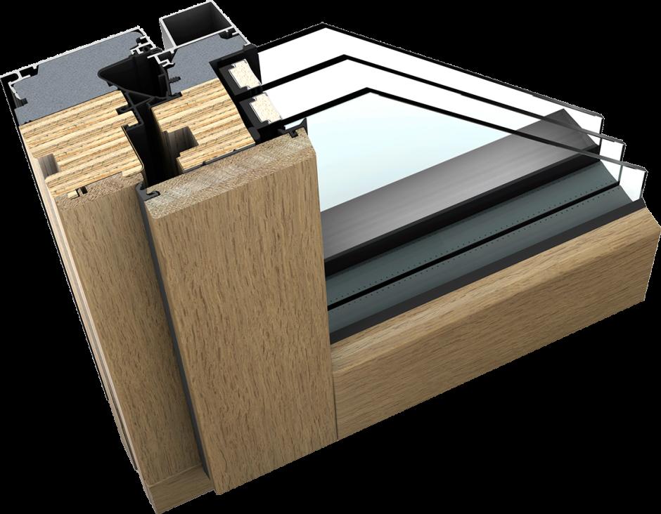holz alu fenster der anderen art mit schichtholz kern. Black Bedroom Furniture Sets. Home Design Ideas