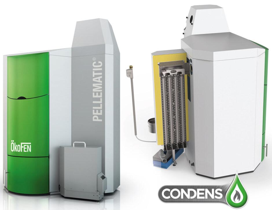 Kaskadierbare Pellet-Brennwerttechnik mit bis zu 256 kW ...